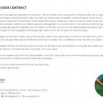 'Contact voor contract' zomerkaart 2015